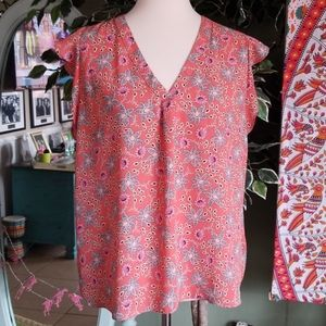 Willi Smith Floral pattern V-Neck Blouse